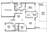 Floor plan of the villa. CLICK on small picture to display the full size image. Later CLOSE large picture by CLICKING on (x).