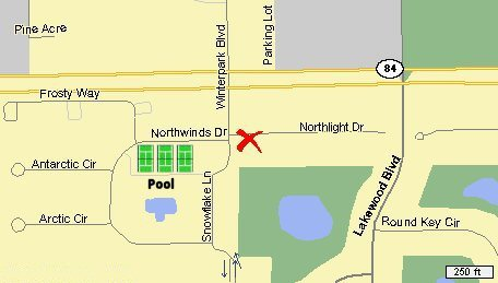 Location of condo in Winterpark.